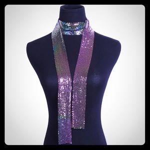 Accessories - Liquid metal Mesh scarf/ collar